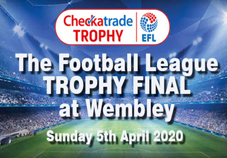 Checkatrade Trophy, The Football League Trophy Final at Wembley sunday 5th April 2020