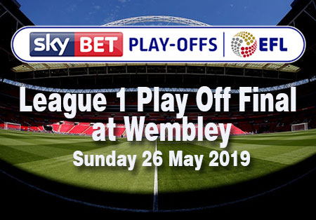 SkyBet Play-Offs EFL League 1 Play-off Final at Wembley Stadium Sunday 26 May 2019