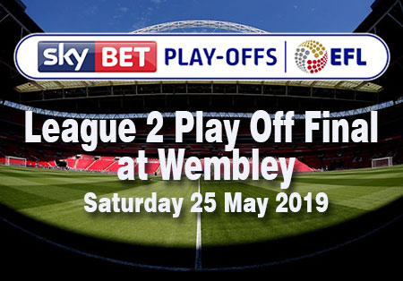 SkyBet Play-Offs EFL League 2 Play-off Final at Wembley Stadium Saturday 25 May 2019